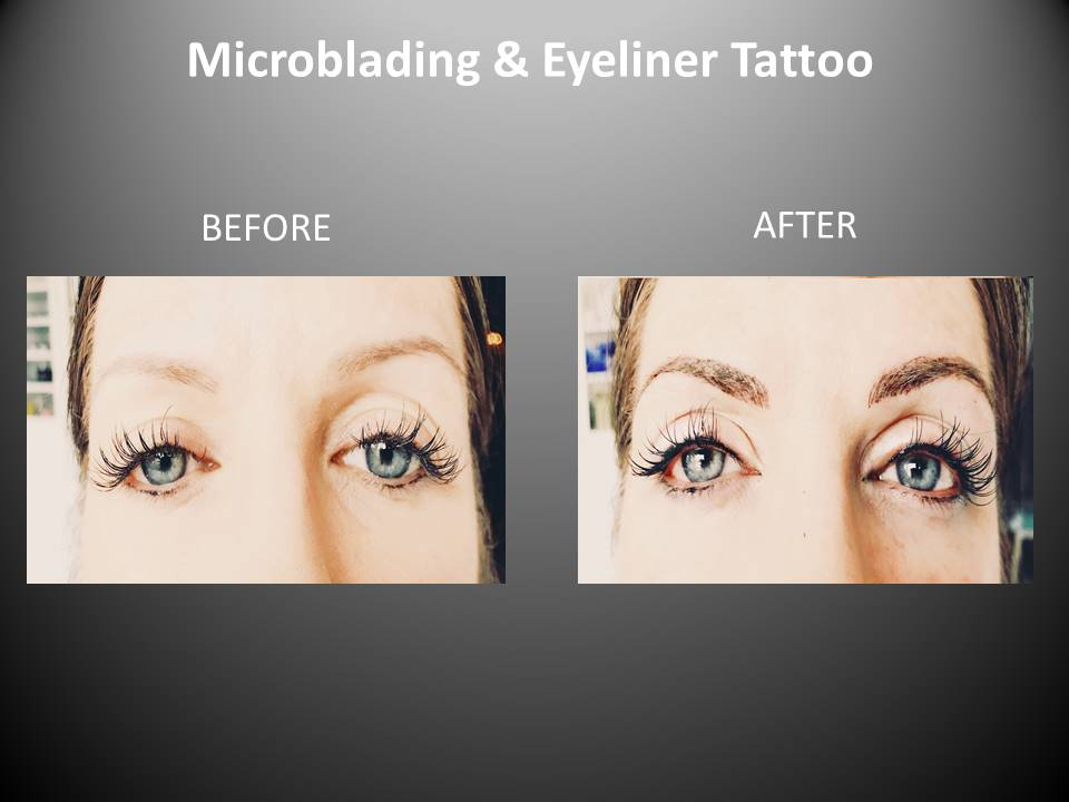 Microblading and eyeliner tattoo