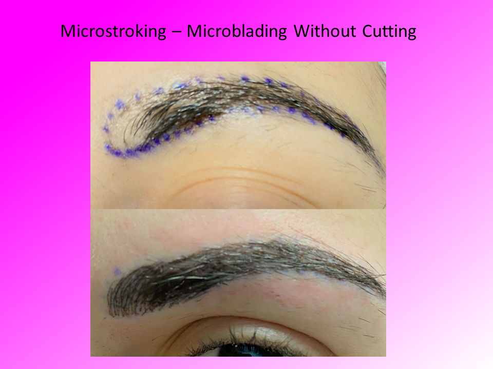 Close up of Microstroking Comparison