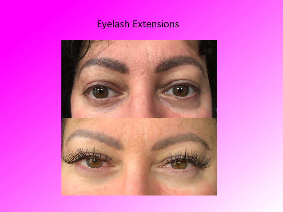 Close Up Before and After for Eyelash Extensions